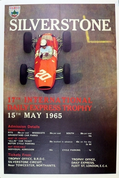 Silverstone 1965 race poster