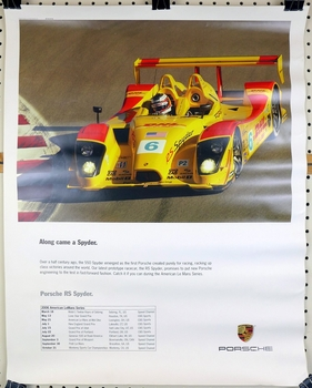 Along Came a Spyder PNA original vintage RS Spyder race events in American Le Mans series