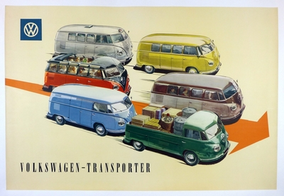 VW Transporter original vintage Factory showroom poster
