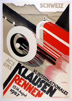 1927 Klausen Rennen original vintage auto race event poster Coulon