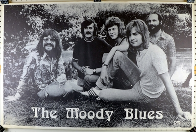 The Moody Blues original vintage poster 1972