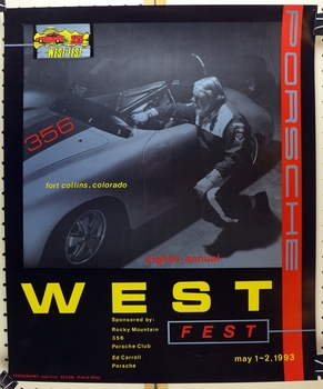 356 West Fest 1993 original vintage auto event poster
