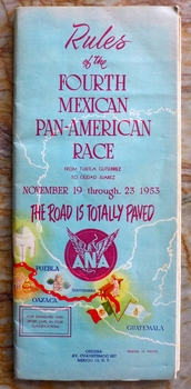 1953 Carrera Panamericana race rules booklet