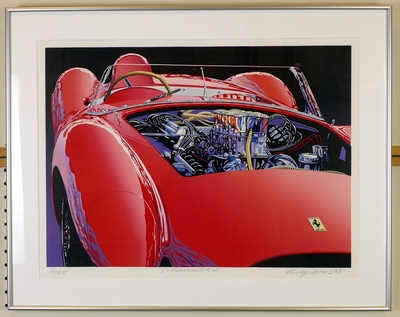 Ferrari 1957 315 S original vintage auto art by Randy Owens