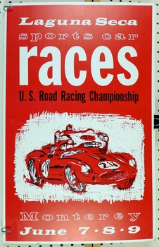 1963 Laguna Seca USRRC race event window card