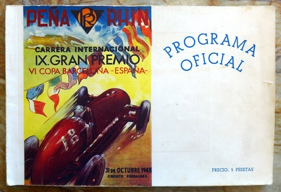 Pena Rhin 1948 original vintage auto race program