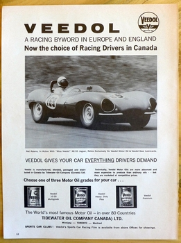 Jaguar XK-SS original vintage auto advertising