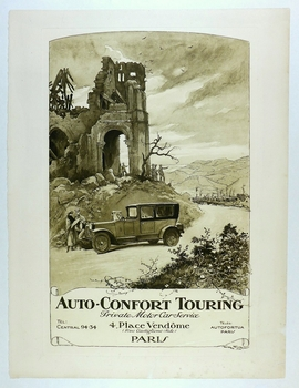 Auto Comfort Touring original vintage 1920 advertising poster