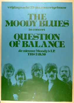 Moody Blues Question of Balance original vintage concert poster Amsterdam 1970