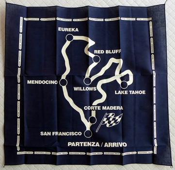 California Mille original vintage cotton scarf