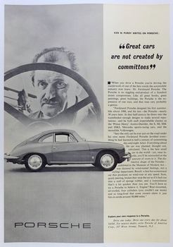 Great cars Ken Purdy article poster original vintage advertising showroom poster