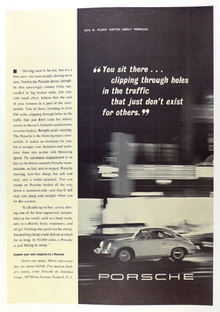You sit there Ken Purdy article advertising poster original vintage