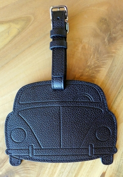 Porsche 356 leather luggage tag