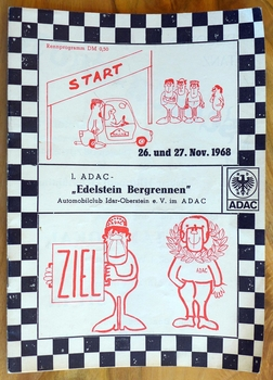 Edelstein Bergrennen 1968 original vintage auto motorcycle race program