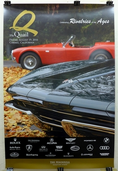 Quail 2016 original event poster 289 Cobra Corvette Stingray
