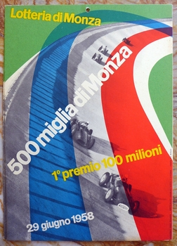 1958 Lotteria di Monza window card