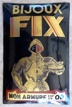 Bijoux FIX original vintage gold jewelry advertising sign