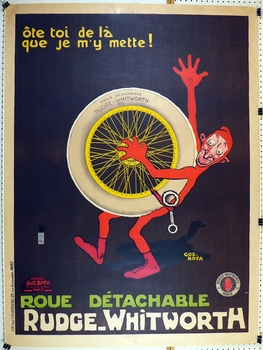 Rudge Whitworth wire wheel poster