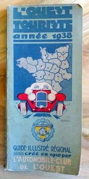 L'Ouest 1938 original vintage travel guide Geo Ham