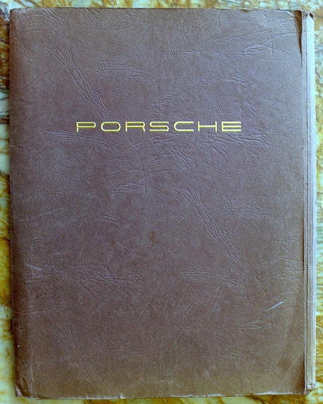 Porsche presentation pocket folder