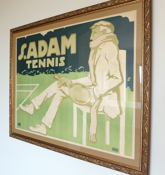 S Adam Tennis original vintage advertising poster