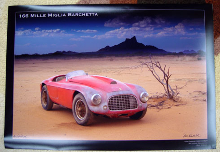 Ferrari 166 MM barn find poster