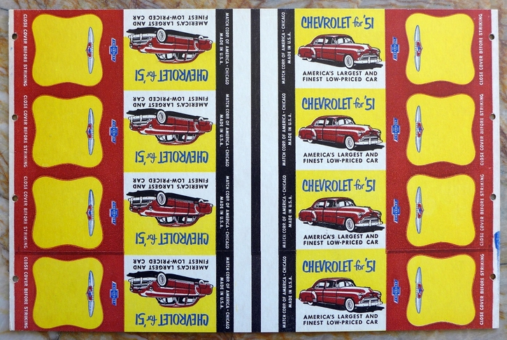 Chevrolet 1951 original vintage advertising