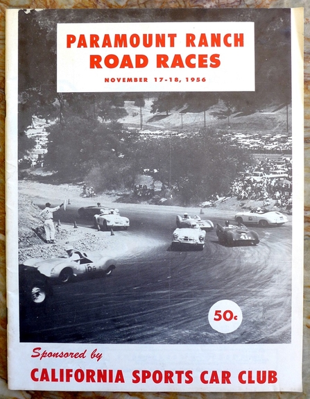 Paramount Ranch road races original vintage race program Nov 1956