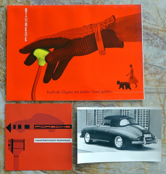 1957 Porsche 356 A original vintage introduction press kit French