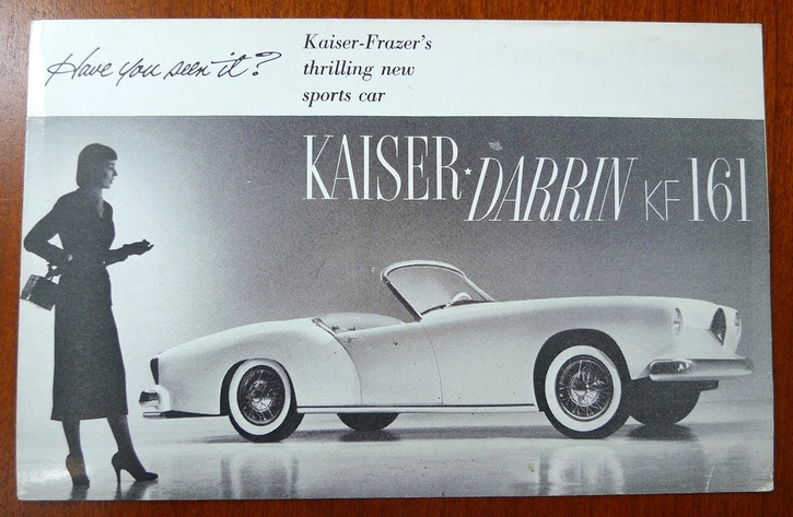 Kaiser-Darrin original vintage post card