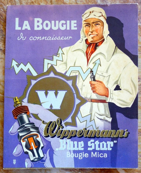 Wippermann's La Bougie original vintage advertising counter card