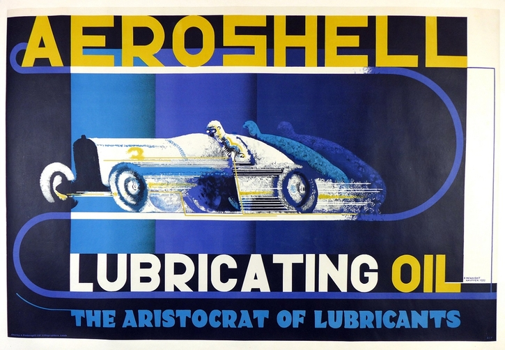 Aero Shell original vintage advertising poster McKnight Kauffer
