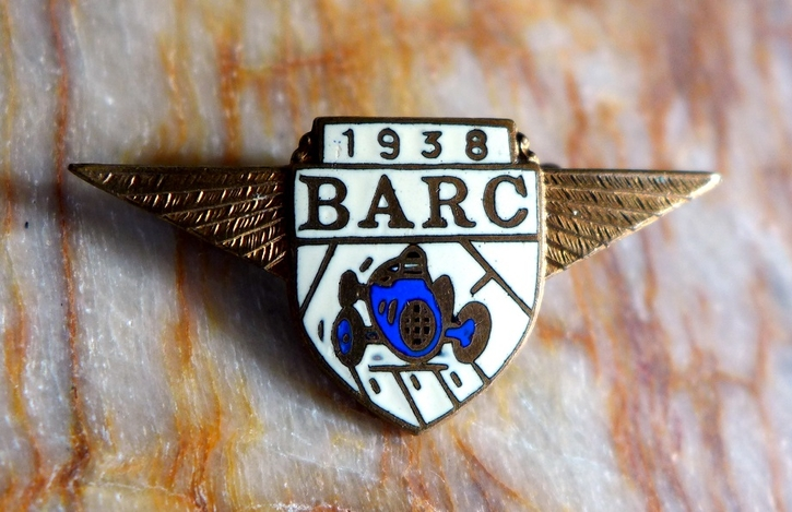 BARC 1938 original vintage pin