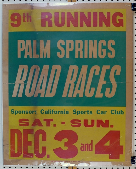 Palm Springs Road Races original vintage auto poster