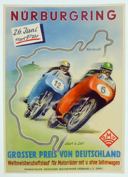 Nurburgring motorcycle racing event poster