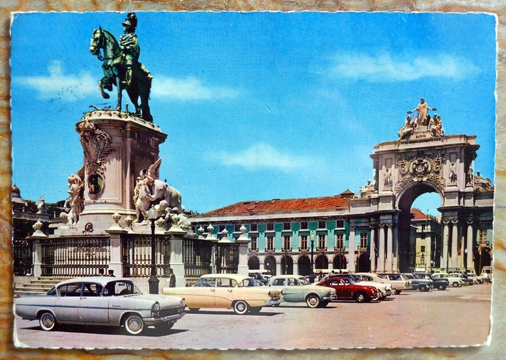 356 Coupe in Lisbon post card