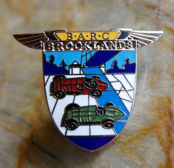 BARC Brooklands original vintage member pin